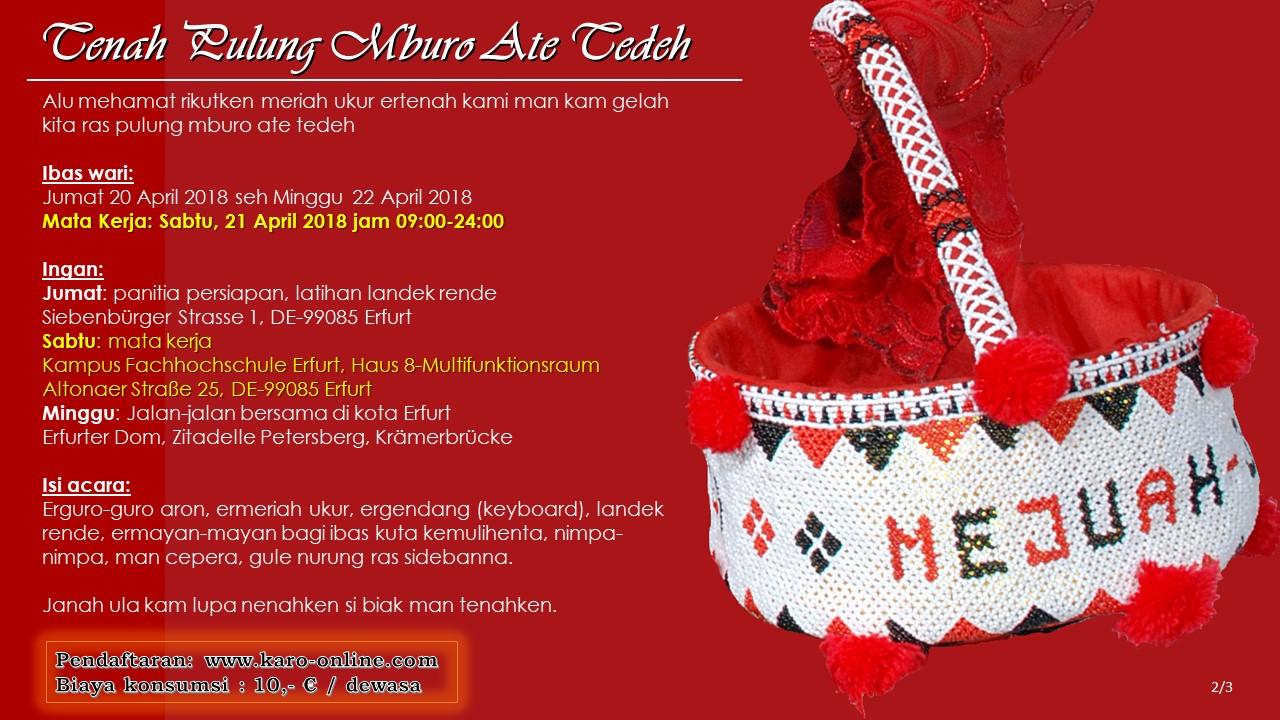 Pesta Tradisional Karo 2018